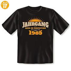 zum 32 Geburtstag Geschenk - lustiges T-Shirt 32 Jahre Jahrgang 1985 - für Männer Gr. 5XL in schwarz : ) - Shirts zum geburtstag (*Partner-Link)