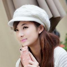 Mileegirl New Crochet Women Hats Autumn Winter Fashion Kintted Beanies  Rabbit Fur Cap Ladies Warm Skullies Hats d1dd81a580c