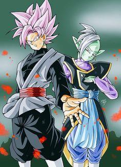 Zamas y Black Goku SSJRose / DBS
