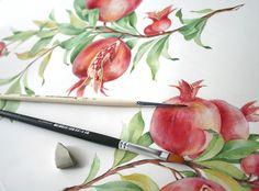 pomegranate pattern for Chelebi Furniture on Behance