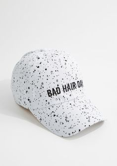 37ba69658d1fe image of White Speckled Bad Hair Day Baseball Hat Bad Hair Day Hat