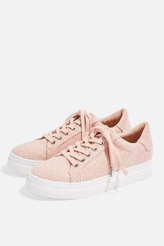 new arrival 8b299 64e0c Topshop CANDY Lace Up Trainers