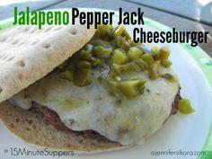 Jalapeno Pepper Jack Cheeseburger