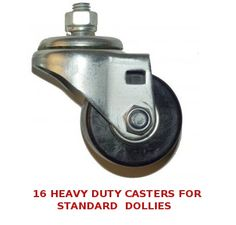"Sixteen 2.5"" Heavy Duty Casters for Standard Car Dollies - Car Guy Garage"
