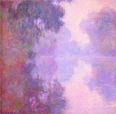 Misty Morning on the Seine ~ Claude Monet. You may think Monet painted the same picture but notice how the light is different. He waited until the light changed and painted the same part of the river.