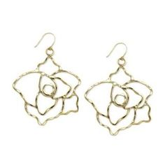 Helen's Gold Hammered Metal Rose Earrings - Final Sale #Glimpse_by_TheFind