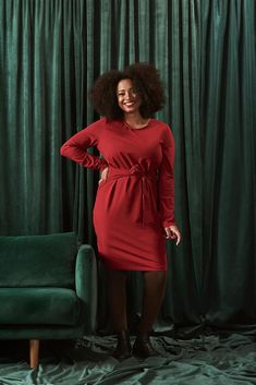 The beloved organic cotton Belted Dress from Kaiko Clothing Company is now available in beautiful rosy Red color. The Belted dress is feminine yet laid-back soft organic cotton dress that comes with ribbons at the waist that you can tie either on the back or front side. Shop the dress for the Christmas cocktail party here: www.kaikoclothing.com #christmasoutfit #organiccotton #dress #kaikoclothingcompany Fair Trade Clothing, Ethical Fashion Brands, Belted Dress, Clothing Company, Everyday Outfits, Cotton Dresses, Malli, Ribbons, Red Color