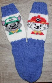 Crochet Socks, Knitting Socks, Knit Crochet, Fair Isle Knitting, Bindi, Baby Knitting Patterns, Paw Patrol, Mittens, Knitwear