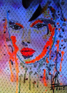 'geheimnisvolle Schönheit - mystirious Beauty neon' von Marion Waschk bei artflakes.com als Poster oder Kunstdruck $16.63
