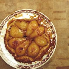 Pear Tarte Tatin dessert recipe made on the AGA cast iron range inspired by Chef Jason Roberts Pear Tarte Tatin, Aga Recipes, Roasting Pan, How To Make Salad, Dessert Recipes, Desserts, Favorite Recipes, Yummy Food, Meals