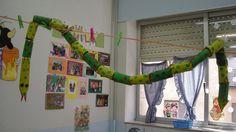 Serpiente. Animalario reciclado con personajes de cuento elaborado por los alumnos de 3 años del CEIP Padre Manjón