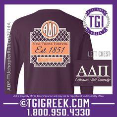 TGI Greek - Alpha Delta Pi - Chapter Retreat - Comfort Colors - Greek T-shirts #tgigreek #alphadeltapi