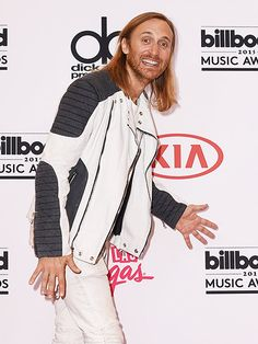 David Guetta poses in the press room during the 2015 Billboard Music Awards