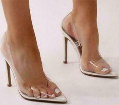 4eb3e745b4 (Advertisement)eBay- Women's Clear Summer Party Fashion Sandals Transparent High  Heels Pumps Sandals