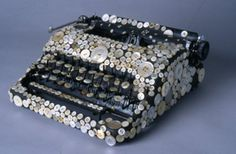 Button covered typewriter
