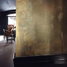 We can't wait to see more of Studio Atlier's exciting concept for Voyeur Bar in Perth, Western Australia! Unveiled recently, this seductive surface treatment combining Porter's Paints Stone Paint, Fresco and Liquid Gold completed by our distributor Painted Earth and Sabi Art and Design