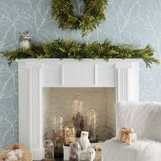 Bring holiday cheer to your home with cordless greenery from Grandin Road. Shop our cordless garland, wreaths and greenery collections for stunning décor. Hanging Christmas Tree, Christmas Tree Baubles, Christmas Mantels, Outdoor Christmas Decorations, Simple Christmas, Beautiful Christmas, Halloween Decorations, Woodland Christmas, Christmas Ideas