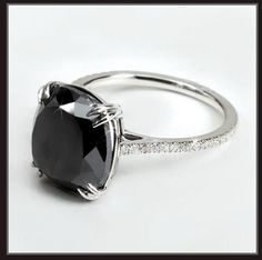 Black Diamond lined in tiny white diamonds