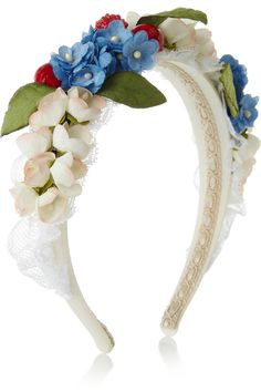 Dolce & GabbanaEmbellished silk and cotton-blend headband  What a sweet summer accessory