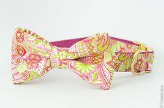 Secret Garden Bow Tie Dog Collar