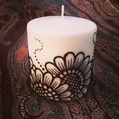 Sunflower Henna Candle 3x3 from GypsyMoon for $15.00 on Square Market