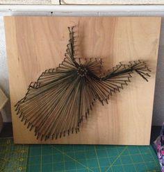 West Virginia string art