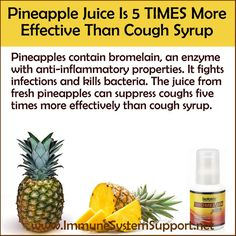 Pineapple Juice Is 5 TIMES More Effective Than Cough Syrup