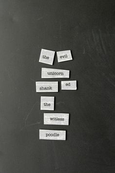 A free printable for the best magnetic poetry that ever was.