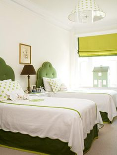 From Better Homes and Gardens #bedroom #green
