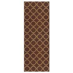 Rubber Backed 31' x 10' Moroccan Trellis Brown and Beige Non-Slip LONG Runner Contemporary Area Rug ** Check out the image by visiting the link. (This is an affiliate link and I receive a commission for the sales)