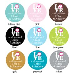 Love is all You Need Personalized Round Label - 20 pcs - Musical Theme Wedding Favors - Wedding Favor Themes - Wedding Favors & Party Suppli...