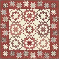 Dancing with the Stars Quilt Kit with Midwinter Reds