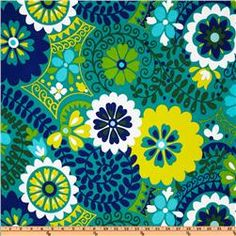 Potential awning fabric? Waverly Sun N Shade Fish Bowl Aquamarine Richloom Solarium Outdoor Luxury Floral Azure