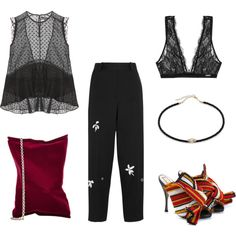 Untitled #401 by kristyayoub on Polyvore featuring мода, Isabel Marant, Jonathan Saunders, Calvin Klein Underwear, N°21, Anya Hindmarch and Jacquie Aiche