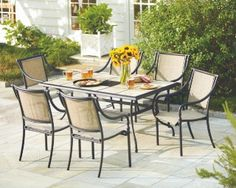 HAMPTON BAY® Andrews 7 Piece Dining Set Home Depot Canada   Love That You