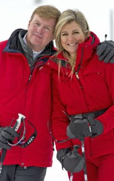 King Willem-Alexander and Queen Maxima during their winter holidays in Lech, Austria, 17.02.14.