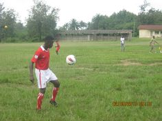 day1: one of the player juggles the ball