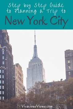 Looking for a Guide to Planning a Trip to New York City? I've got you covered in this *Do Not Miss* Step by Step Plan!! (scheduled via http://www.tailwindapp.com?utm_source=pinterest&utm_medium=twpin&utm_content=post140263587&utm_campaign=scheduler_attribution)