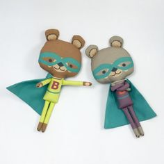 Miniature Super Latte Bear Stuffed Animal Doll por miomucaro
