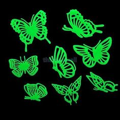 Glow In the Dark Butterflies Patterns Stickers for Kid Bedroom Wall Decoration - BUY NOW ONLY 1.94