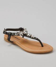 68bc12c1a0a3  10.99 Look at this  zulilyfind! Black Emma Sandal by RCK Bella  zulilyfinds
