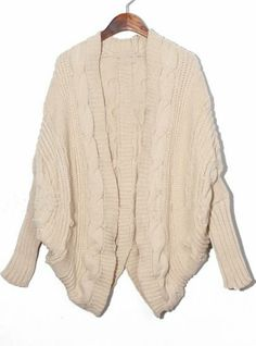 Apricot Batwing Cape Cardigan Loose Sweater