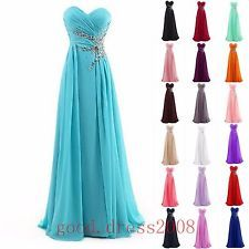 New Chiffon Long Formal Prom Cocktail Party Ball Gown Evening Bridesmaid Dresses