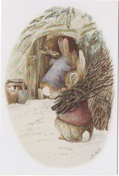 Beatrix Potter Christmas  Collecting Winter Fuel