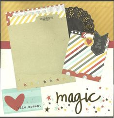 2 page Scrapbooking Layout Kit Magic Love This by CropALatteToGo