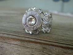 Bullet Vintage Ring Clear by Sarahsjewelrydesigns on Etsy, $10.00