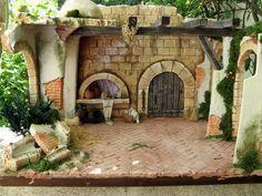 Foro de Belenismo - Arquitectura y paisaje -> Más portales Portal, Felt Crafts Patterns, Mini Craft, Christmas Villages, Diy Dollhouse, Garden Crafts, Small World, Poinsettia, Decoration