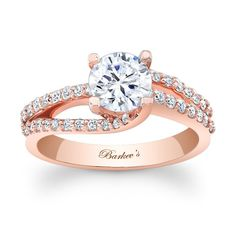 ROSE GOLD ENGAGEMENT RING  STYLE # 7677LPW make that a square diamond and we are good to go!!