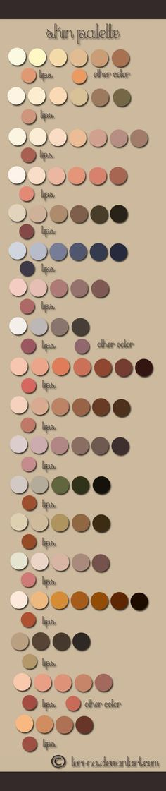 skin color pallette: