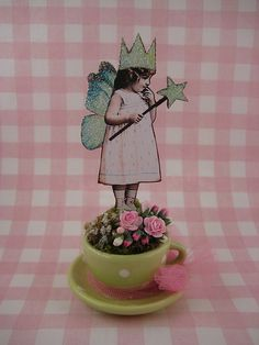 inspiration: fairy in a tea cup
